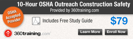 Register for the OSHA 10-Hour Construction Safety online training.
