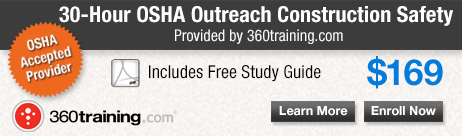 Register for the OSHA 30-Hour Construction Safety online training.