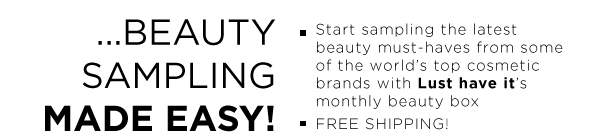Beauty sampling made easy!