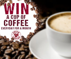 Win Free Costa Coffee for a Month