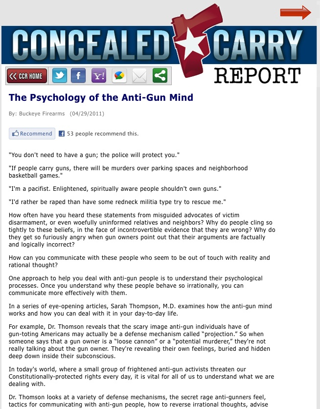 Concealed Carry Report Article