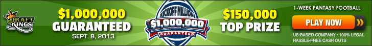 Win A Seat To the DraftKings Million Dollar Guarantee At Fantasy Wired 101
