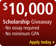 Apply for a $10,000 College Scholarship