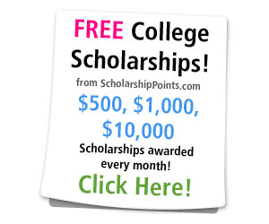 Free College Scholarships from ScholarshipPoints.com