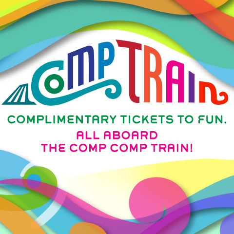 Deals  Discounts  CompTrain480x480 COMP TRAIN IN TOWN   TOTALLY FREE THEATER, MUSICALS, COMEDY, etc