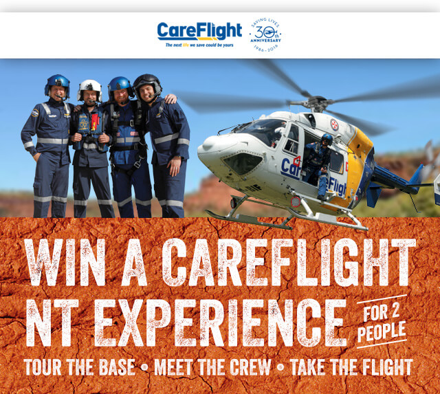 Win a careflight nt experience for 2 people- tour the base/ meet the crew / take the flight