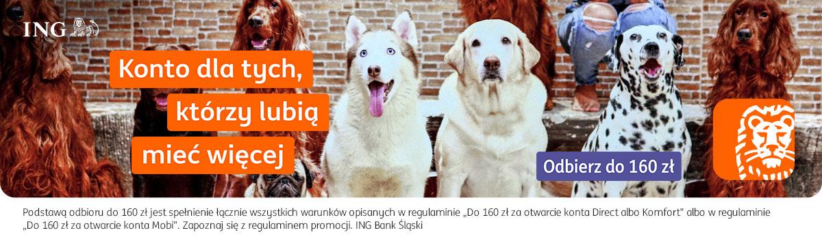 ING Konto Direct - Otwórz konto w promocjach. 160 zł premii za otwarcie i polecenie konta.