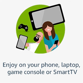 Enjoy on your phone, laptop, game console or SmartTV
