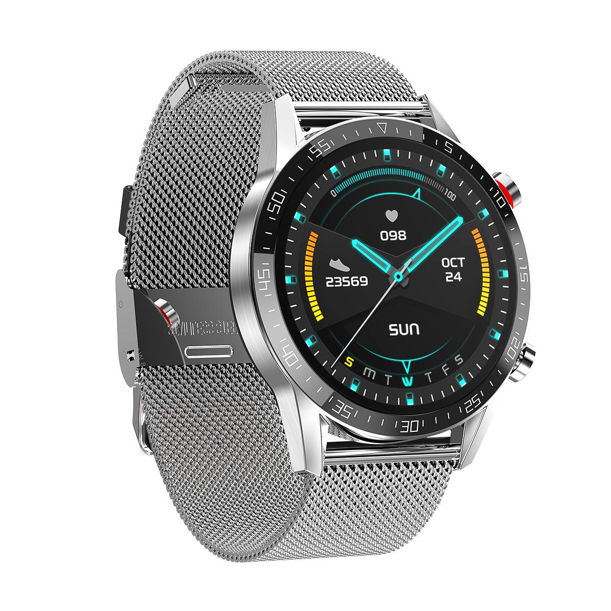 silver stripe smartwatch