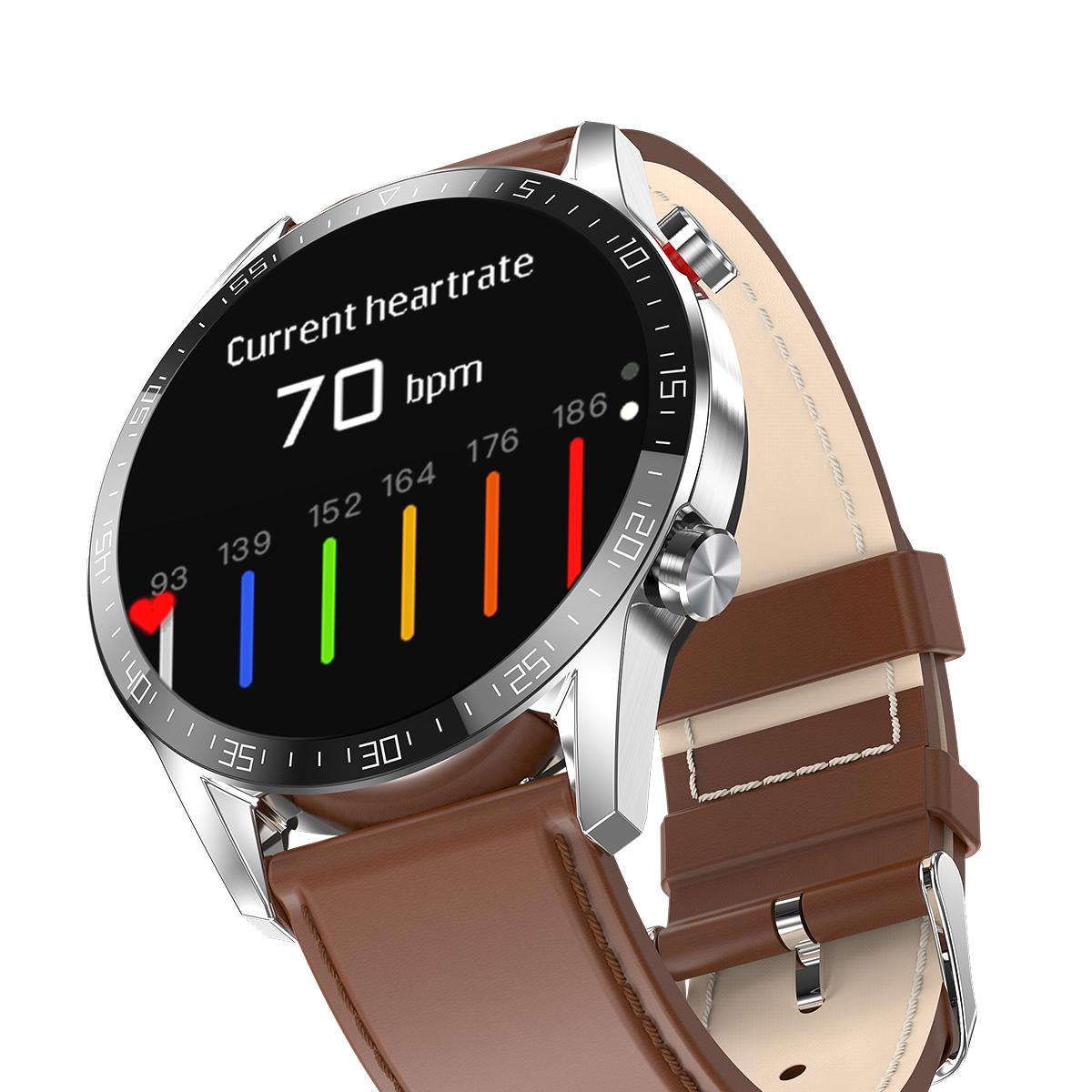 leather stripe smartwatch