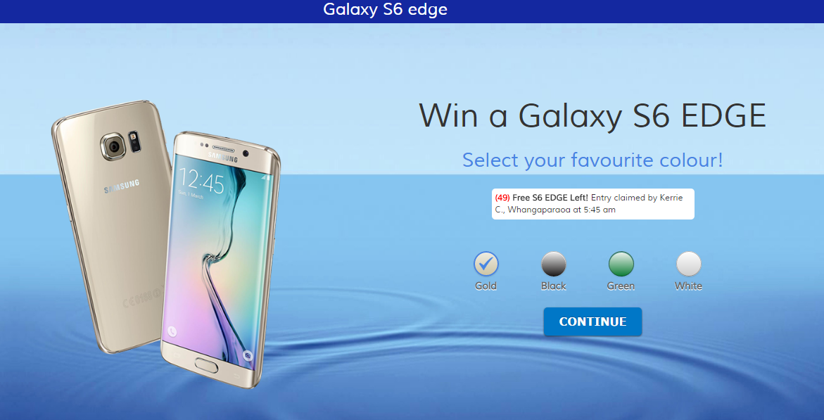 Win A Samsung Galaxy S7 Edge - NZ