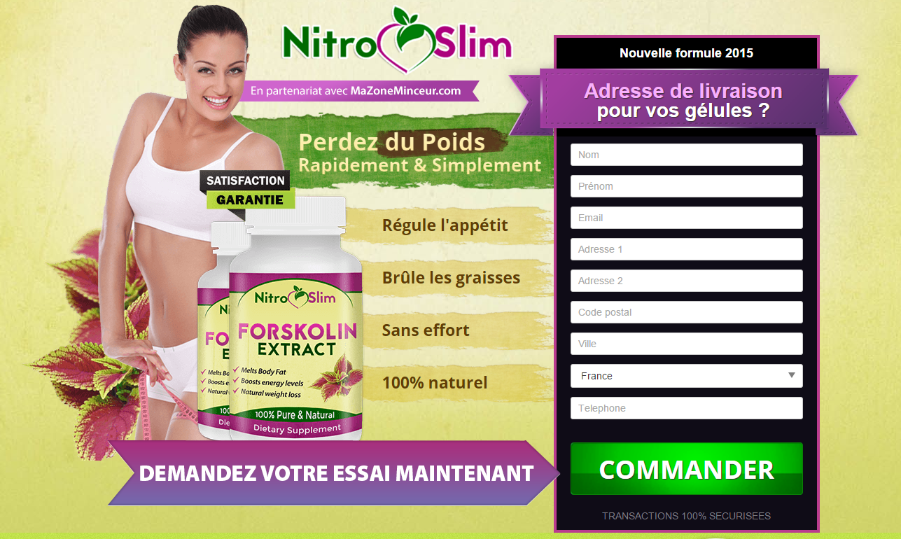 Nitro Slim Forskoline - FR - Trial