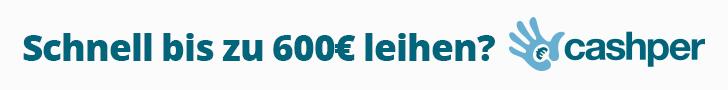 Cashper 600 € zinsfreier MInikredit