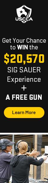 3 handguns with USCCA logo underneath