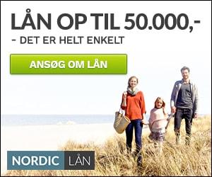 Lån op til 50.000 kroner hos NordicLån
