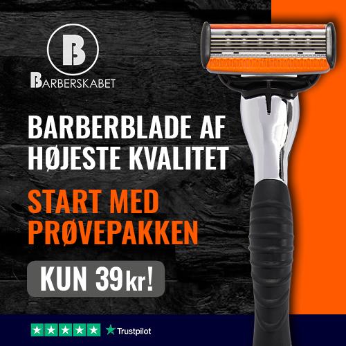Få en prøvepakke på barberblade for kun 19,50 kr.
