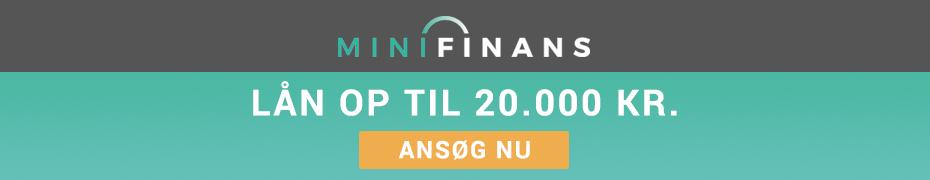 Minifinans lån op til 20000