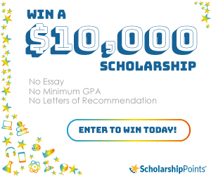 Win a $10K Scholarship. No essay, GPA, or letters of recommendation.