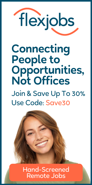 Flexjobs banner - save up to 30% off