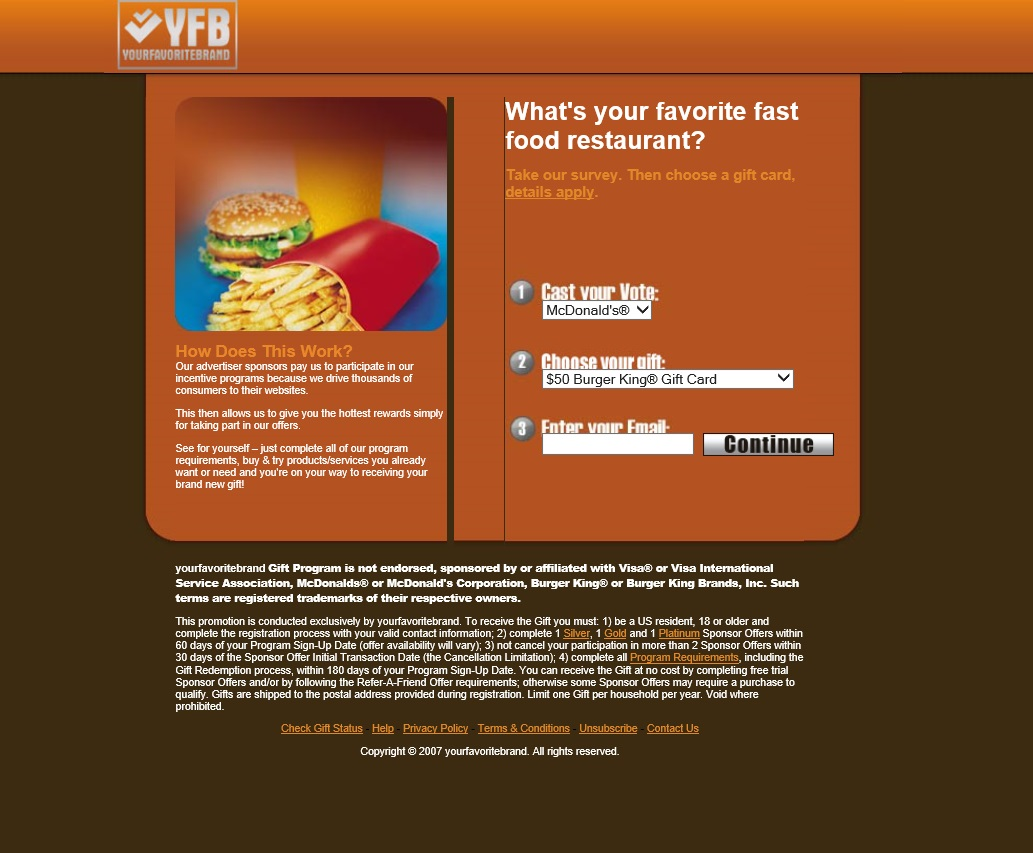 yourfavoritebrand McDonalds vs  Burger King $50 Gift Card
