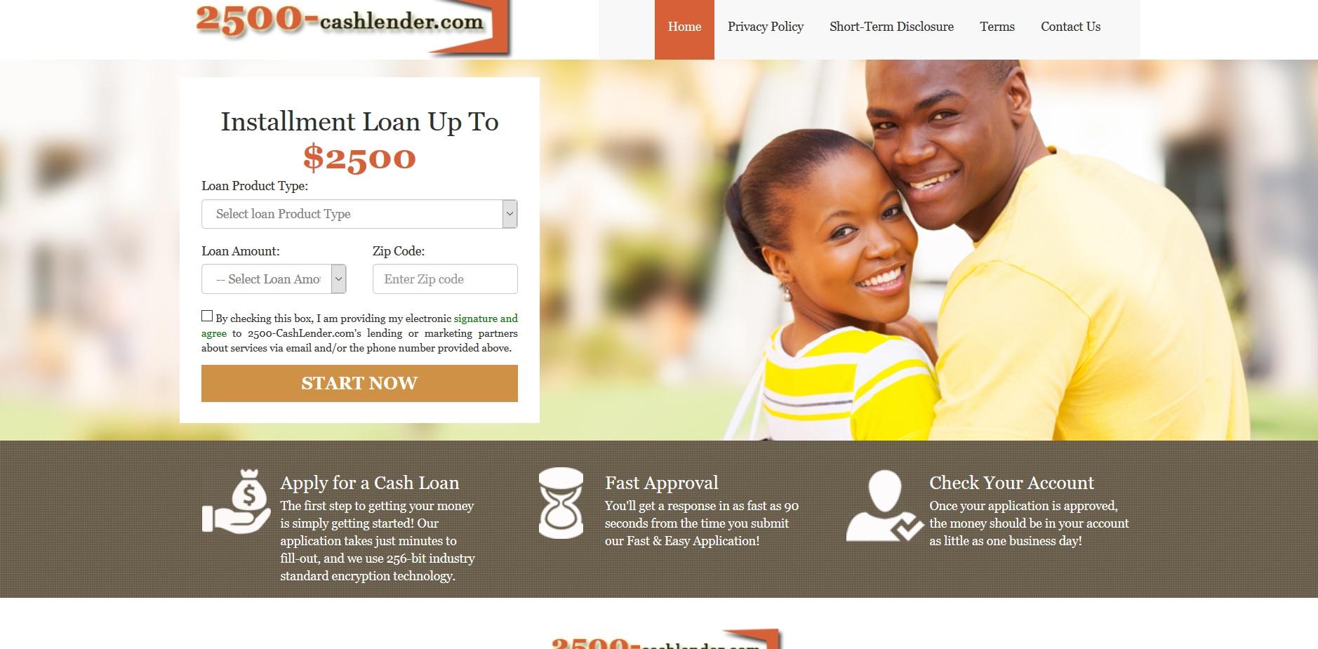 2500 cash loan