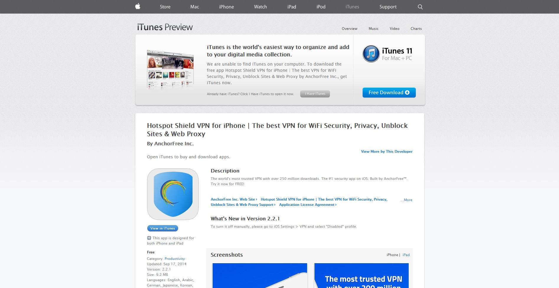 Hotspot Shield VPN iOS US Affiliate Program