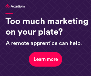 Acadium Review: A Digital Marketing Resource For Businesses - A remote apprentice can help