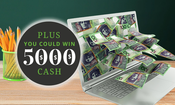 plus you could win $5000 cash