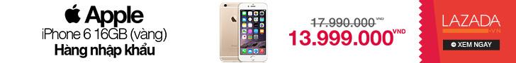 Lazada khuyến mãi Iphone 6 giá cực tốt