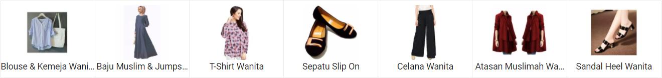 Mudahnya belanja online di lazada beragam fashion wanita tas, pakaian, sepatu, celana, blouse, baju muslim dan sandal wanita