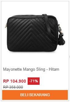 Tas Selempang Mayonette Minako Mango Sling - Hitam