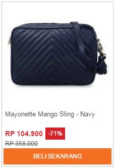 Tas Selempang Mayonette Mango Navy
