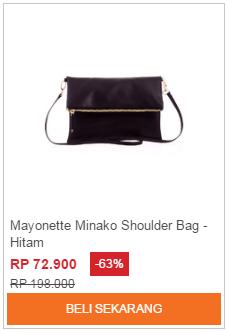 Tas Selempang Mayonette Minako Shoulder Bag Hitam