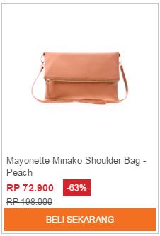 Tas Selempang Mayonette Minako Shoulder Bag Peach