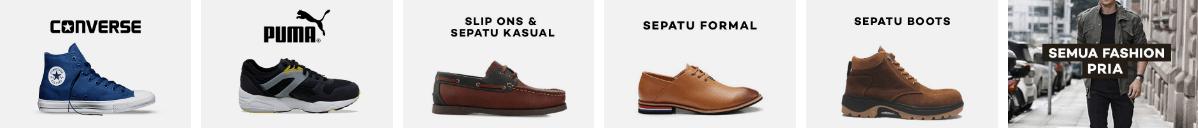Beli sepatu Pria di lazada✪ Sepatu Converse✪ Sepatu Puma✪ Sepatu Slip Ons & Sepatu Kasual✪ Seppatu Formal✪ Sepatu Boot✪ Sepatu Sport/Olahraga