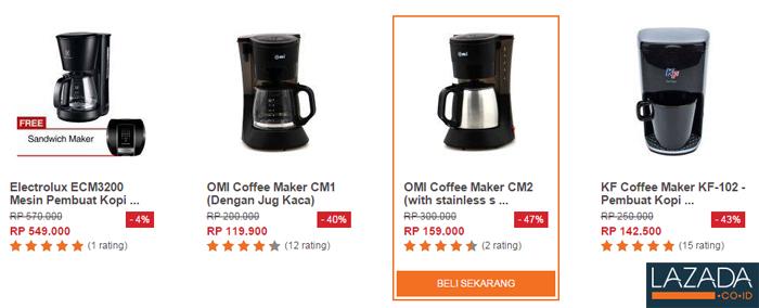 Coffee Maker, Mesin Kopi, Penggiling atau Roaster