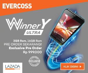 Evercoss A75A Winner Y Ultra RAM 2GB Internal 16GB Hanya 1 Juta