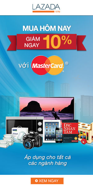 Lazada Vietnam Master card on Monday