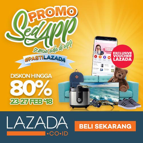 Silahkan di download Aplikasi Lazada berikut ini dan dapatkan diskon terbesar hanya menggunanakan Aplikasi lazada di ponsel anda
