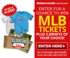 Click Here to enter for a chance to win MLB Tickets Plus 2 MLB Jerseys of your choice!
