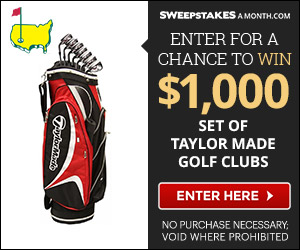Click Here to Enter for a chance to win a set of TaylorMade Golf Clubs!