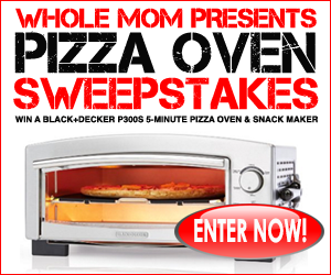 Whole Mom wants readers to enter once for a chance to win this Black & Decker 5-Minute Pizza Oven & Snack Maker worth over $100!