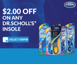 Dr. Scholl's wants you to take their quiz for a chance to win a Polar A360 Fitness Watch! Everyone gets a coupon $2.00 off any Dr. Scholl's Insole!