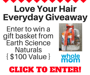 Whole Mom has your chance to enter once to win a Gift Basket from Earth Science Naturals worth $100, filled with products your hair will absolutely love!