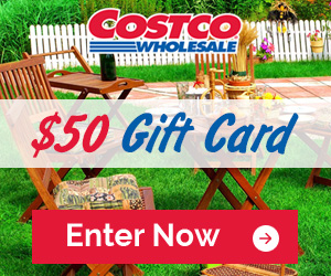 Register for a chance to win a $50 Costco Gift Card! They're giving away 5 of them!