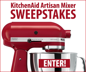 Enter the KitchenAid Artisan Mixer Sweepstakes