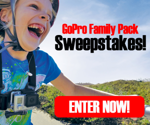 Enter for a chance to win a GoPro Family Pack! Includes GoPro Hero Session ($199), Patagonia Back-Pack ($79) and Duffle ($79), and GoPro Junior Chest Harness ($39.99) Ends December 12, 2016.