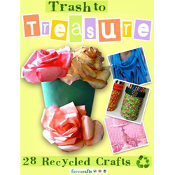 Free Trash to Treasure: 28 Recycled Crafts Book