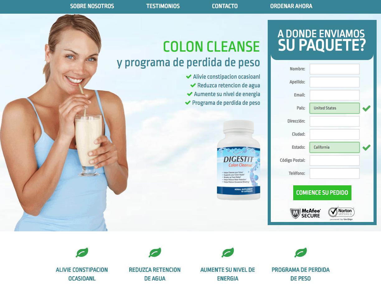 Digestit colon cleanse Spanish