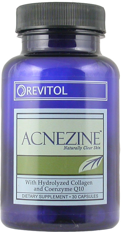 The Revitol Acnezine Bottle Containing the Capsules - Get Two Free Bottles With This Exclusive Offer